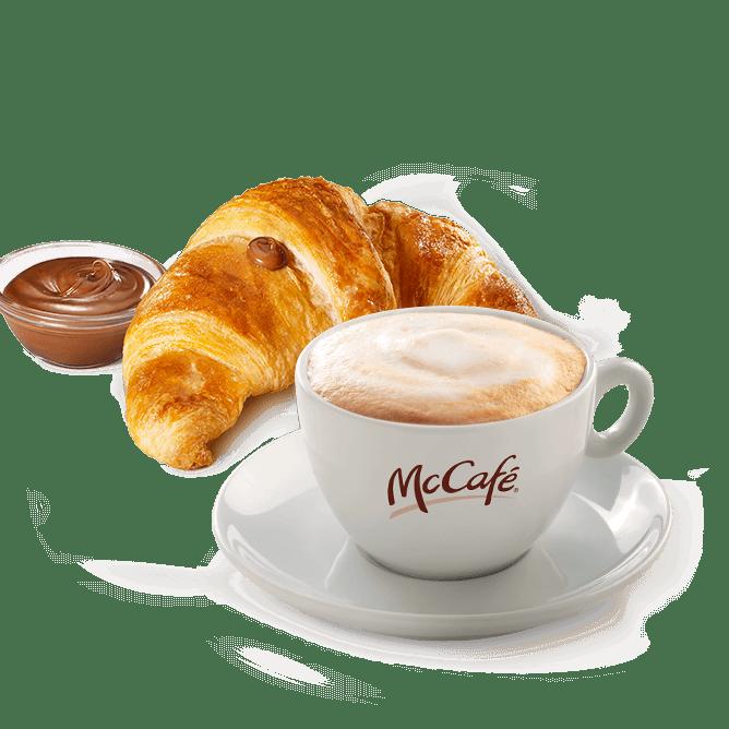 Menu cappuccino + croissant alla Nutella